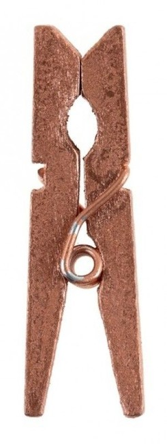Santex Dekoračné štipce metalické ružovo zlaté 24ks