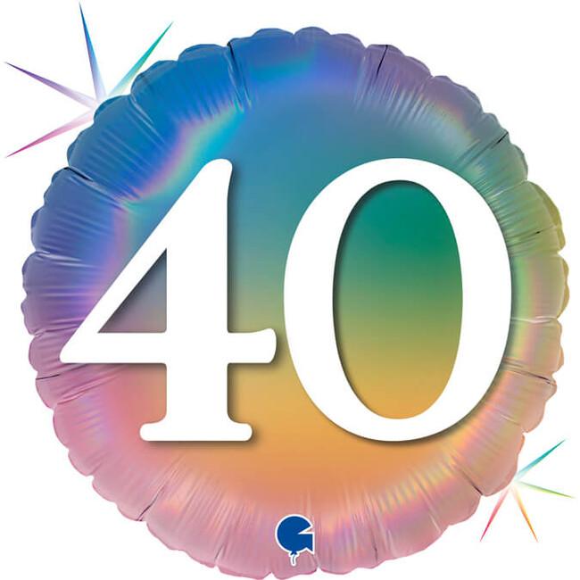 Grabo Fóliový balón 40 narodeniny dúhový 46cm