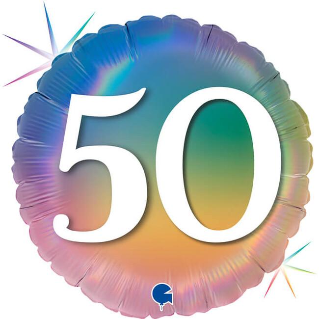 Grabo Fóliový balón 50 narodeniny dúhový 46cm