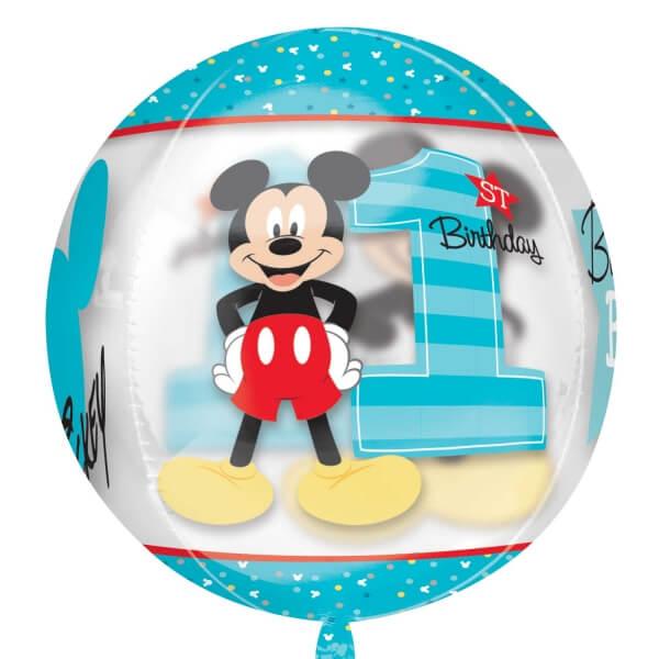 Amscan Fóliový balón orbz Mickeyho 1.narodeniny 40cm