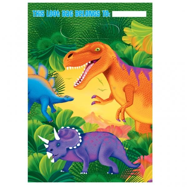 Amscan Taštičky Dinosaury 8ks
