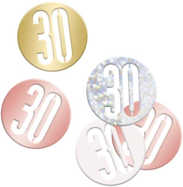 Unique Konfety 30.narodeniny ružovo-zlaté 14g