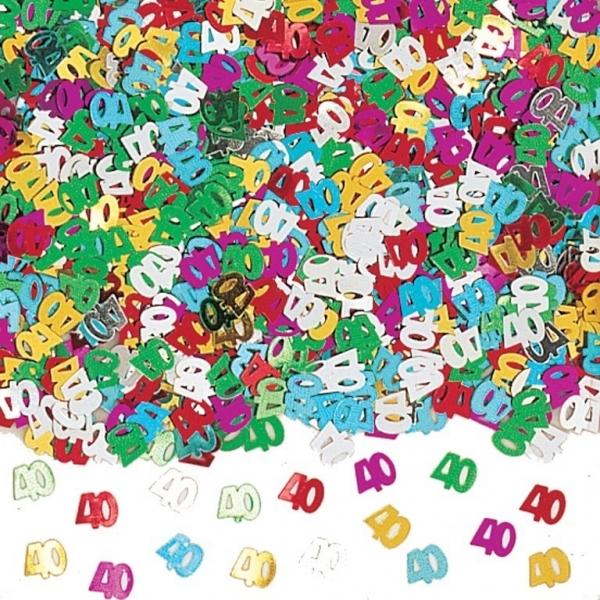 Amscan Konfety 40.narodeniny farebné 40g