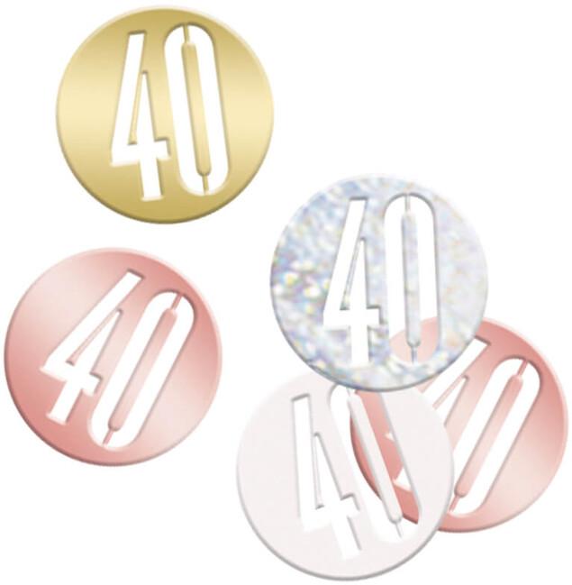 Unique Konfety 40.narodeniny ružovo-zlaté 14g