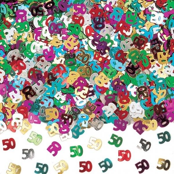 Amscan Konfety 50.narodeniny farebné 40g