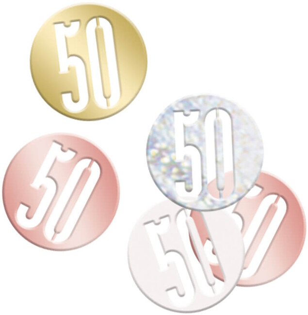 Unique Konfety 50.narodeniny ružovo-zlaté 14g