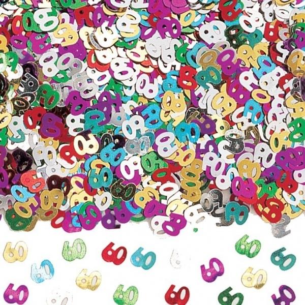 Amscan Konfety 60.narodeniny farebné 40g