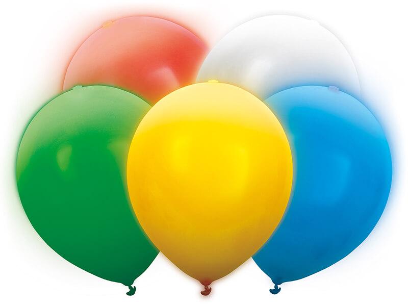 PartyDeco Svietiace LED balóny mix 30cm 5ks