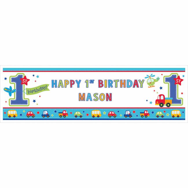 Amscan Banner 1.narodeniny B-day Boy 165 x 50 cm