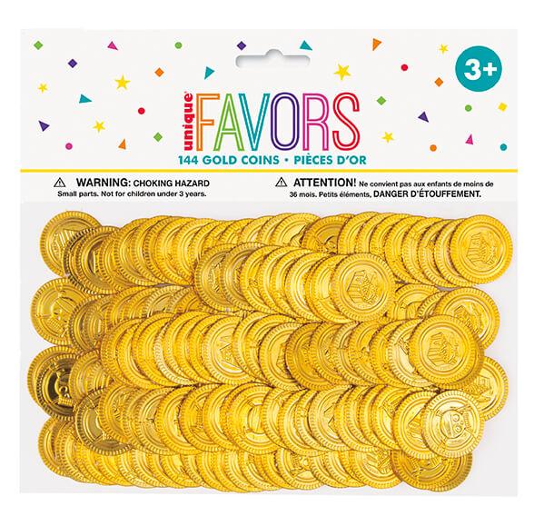 Unique Zlaté mince Pirátsky poklad 144ks
