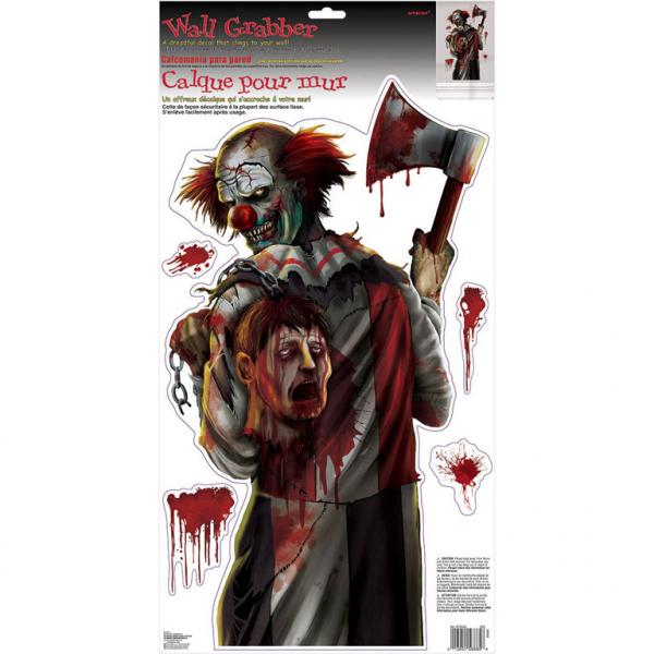 Amscan Nálepky na stenu Creepy Clown 61x30cm 5ks