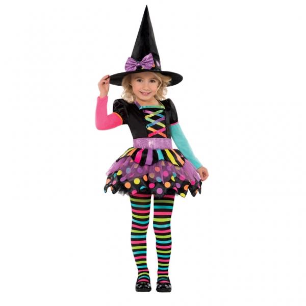 Amscan Neónový kostým Čarodejnica 3-4 roky