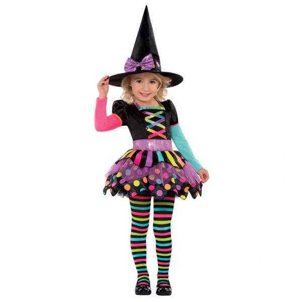 Amscan Neónový kostým Čarodejnica 4-6 roky