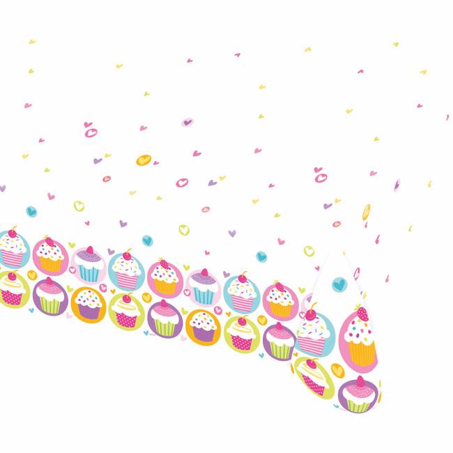 Amscan Obrus Cupcake 120x180cm