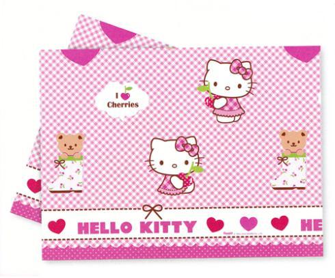 Obrus Hello Kitty plastový 120x180cm
