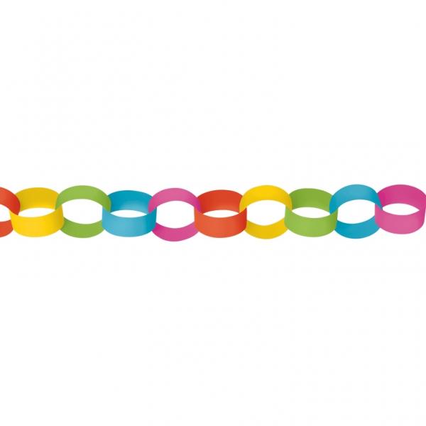 Amscan Papierová reťaz multicolor 390cm