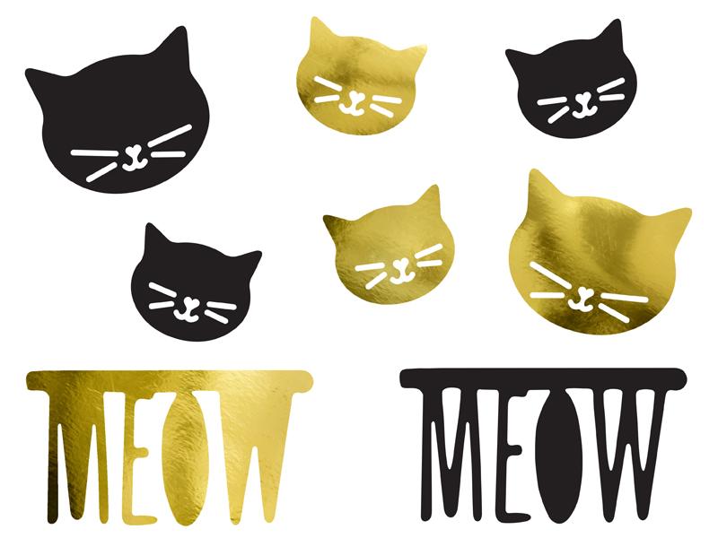 PartyDeco Papierové dekorácie Mačička 8ks