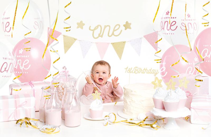 PartyDeco Sada dekorácií 1.narodeniny dievčatko
