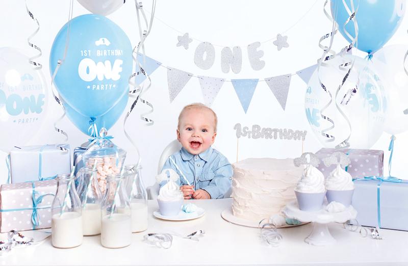 PartyDeco Sada dekorácií 1.narodeniny chlapček