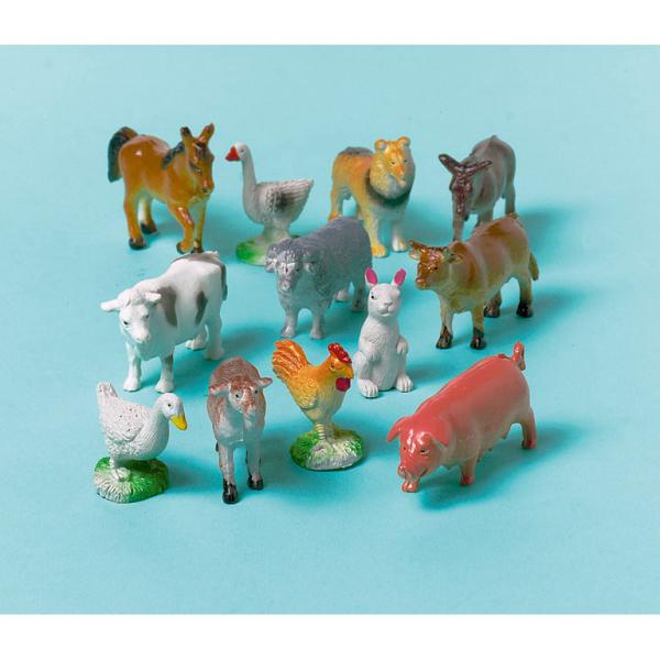 Amscan Figurky Farmárske zvieratá 12ks