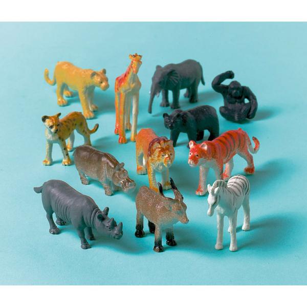 Amscan Figurky Safari zvieratá 12ks