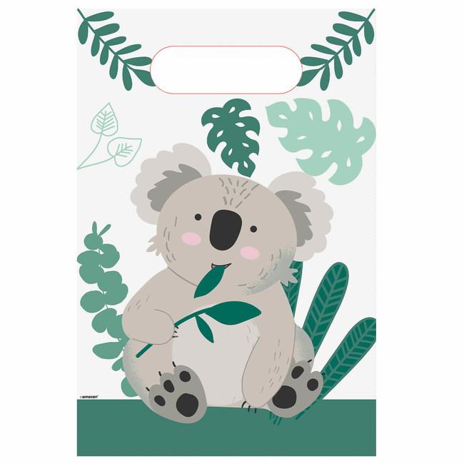 Amscan Papierové taštičky Koala party 8ks