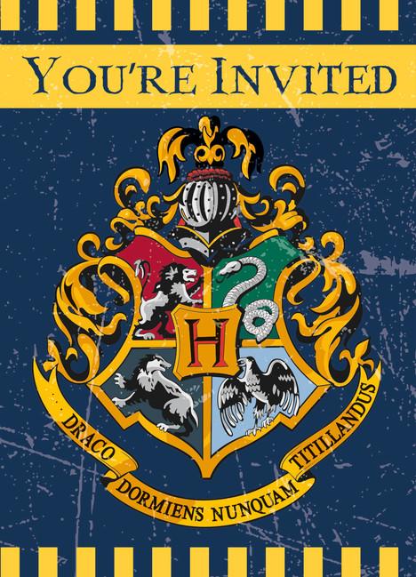 Unique Pozvánky Harry Potter 8ks
