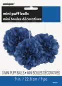 Mini pompónové gule modré