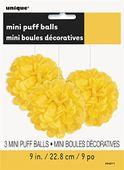 3 Pompónové gule žlté