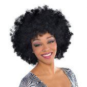 Afro parochňa čierna