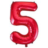 "Balón ""5"" červený"