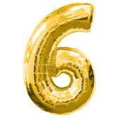 """Balón """"6"""" zlatý"""