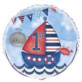 Fóliový balón 1.narodeniny Malý námorník