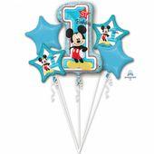 Balónová kytica Mickeyho 1.narodeniny