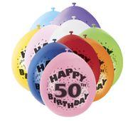 """Balóny """"50"""" Brilliant birthday"""