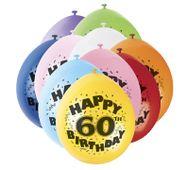 """Balóny """"60"""" Brilliant birthday"""