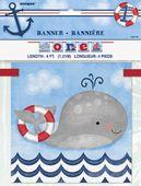 Banner 1. narodeniny Malý námorník