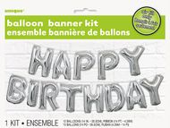Balónový banner Happy Birthday
