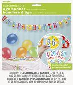Banner s číslom Happy Birthday balloons