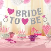 Banner Party Bride to Be Glitter