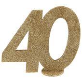 """Číselná dekorácia """"40"""