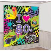 Dekorácia na stenu I love 80's