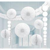 Dekoračná sada miestnosti biela