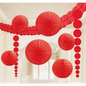Dekoračná sada miestnosti červená