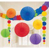 Dekoračná sada miestnosti rainbow multi