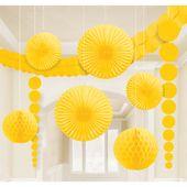 Dekoračná sada miestnosti žltá