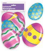 Dekoračné výrezy Veľkonočné vajíčka