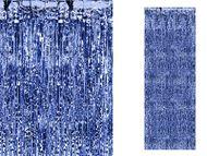 Dlhá párty opona modrá