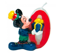 Tortová sviečka Mickey, číslo 0