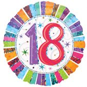 Fóliový balón ´´18´´ Radiant Birthday